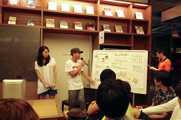 清水淳子さんのグラフィックレコード(その場で話をイラストにしてまとめてゆく!)も流石でした